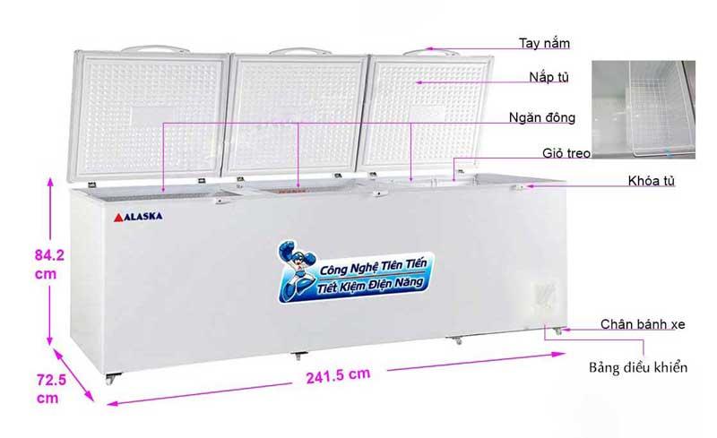 Tủ đông Alaska HB-1100 bảo hành chính hãng