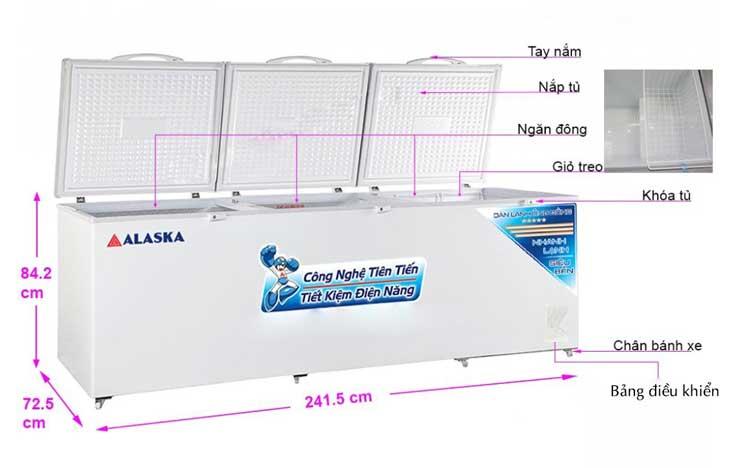 Tủ đông Alaska HB-1100C bảo hành chính hãng