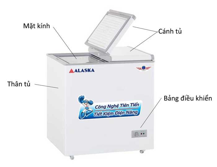 Tủ đông Alaska BD-2099N dung tích 200 lít