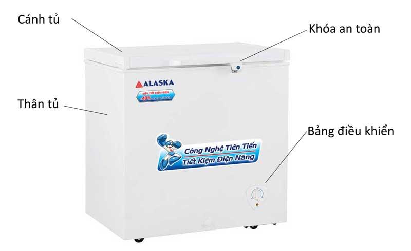 Tủ đông Alaska BD-400 dung tích 400 lít