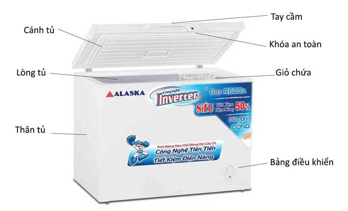 Tủ đông Alaska BD-400CI dung tích 400 lít