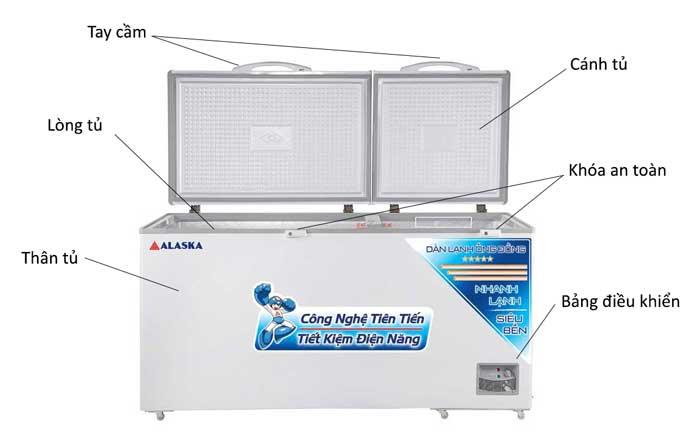 Tủ đông Alaska HB-650C dung tích 650 lít