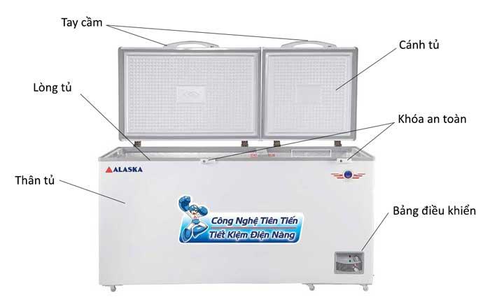 Tủ đông Alaska HB-650N dung tích 650 lít