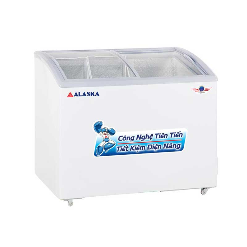 Tủ đông kính cong Alaska SD-401Y làm lạnh nhanh