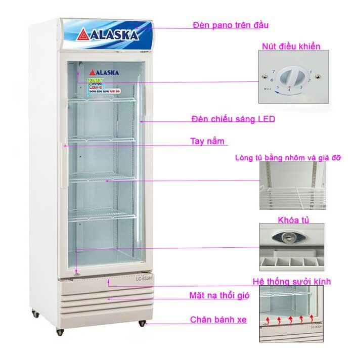 Tủ mát Alaska LC-633H làm lạnh nhanh