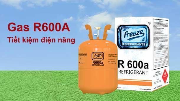 gas R600A trên tủ đông