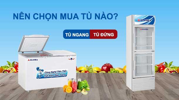 Nên chọn tủ đông đứng hay tủ đông nằm ngang?