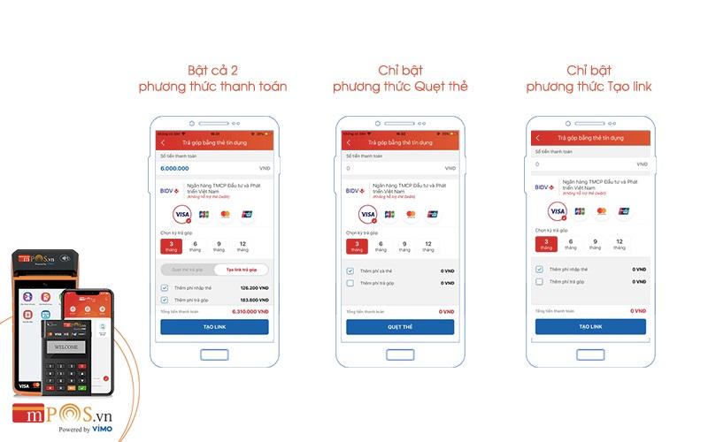 Hướng dẫn thanh toán online qua app MPOS
